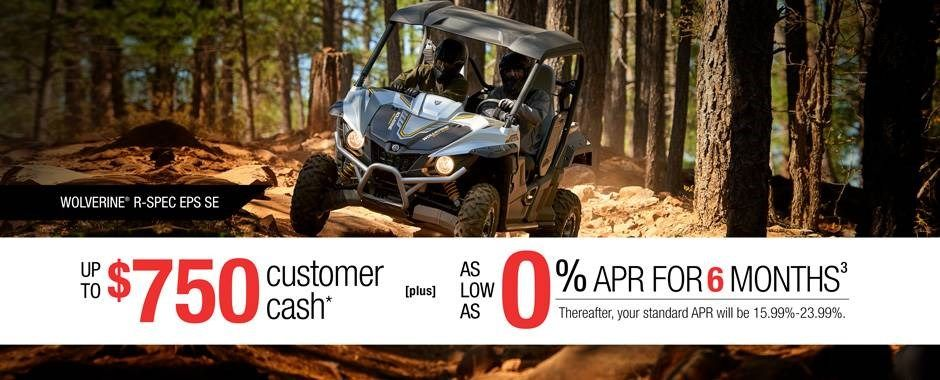 Yamaha - Current Offers - Recreation Side-By-Side - APR and Cash Back